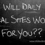 Daily Deal sites chalkboard graphic