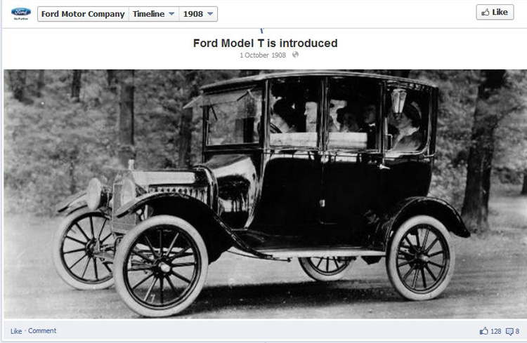 Ford Model T Facebook Milestone