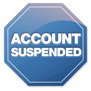 Facebook Like and Share Competitions Account Suspended Graphic